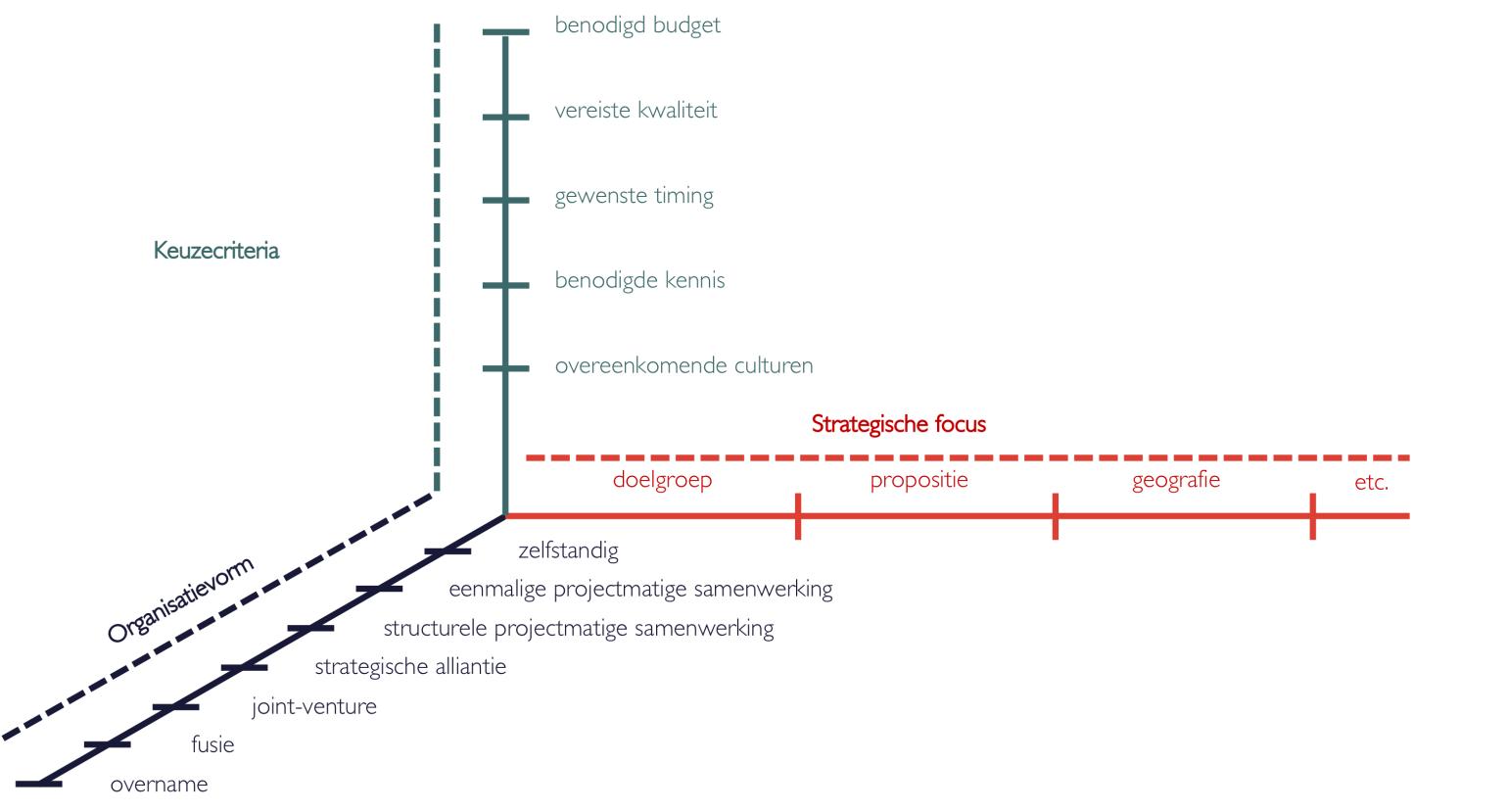 Keuzecriteria, strategische focus en organisatievorm